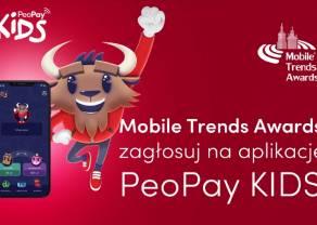 Aplikacja PeoPay KIDS z nominacją do nagrody Mobile Trends Awards