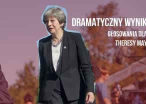 BREXIT: Znamy wyniki głosowania w Izbie Gmin. Katastrofa Theresy May. Ogromna zmienność kursu funta.