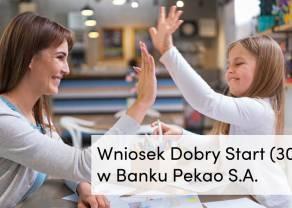 Dobry Start z Bankiem Pekao – wniosek o wypłatę 300+ dostępny w bankowości internetowej Pekao24 oraz aplikacji PeoPay