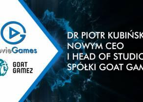 Dr Piotr Kubiński nowym CEO i Head of Studio spółki Goat Gamez z Rodziny Movie Games