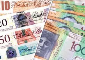 Kursy funta (GBP) i dolara australijskiego (AUD) spadają. Jak prezentują się euro (EUR) i frank (CHF)?