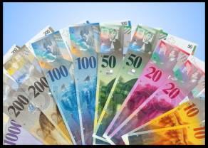 Kurs franka rośnie! Polski złoty (PLN)  traci też do euro, dolara, funta i korony czeskiej