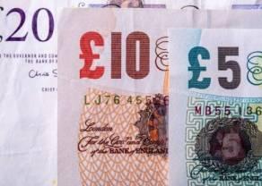 Kurs funta zyskuje na wartości w stosunku do dolara (USD) i euro (EUR). Spadające rentowności wysyłają światło ostrzegawcze inwestorom