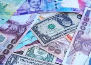 Kursy walut dolar funt frank i euro do złotego - korekty ciąg dalszy