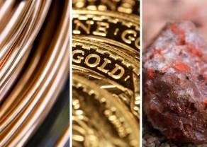 Miedź najtańsza od ponad dwudziestu miesięcy, zaś złoto najdroższe od 2013 r.