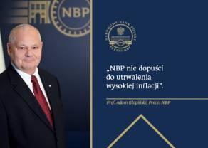 """NBP nie dopuści do utrwalenia wysokiej inflacji - mówi prezes NBP. Wywiad A. Glapińskiego dla """"PAP Biznes"""""""