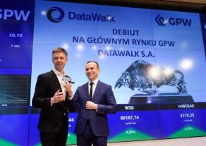 Wczorajsze notowania giełdowe DataWalk z ponad 13% przeceną