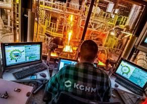 Notowania giełdowe spółki KGHM po raz pierwszy powyżej poziomu 100 zł