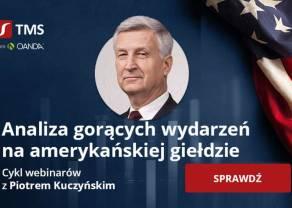 Nowości wprost z amerykańskiej giełdy - dołącz do webinaru z Piotrem Kuczyńskim i bądź na bieżąco!