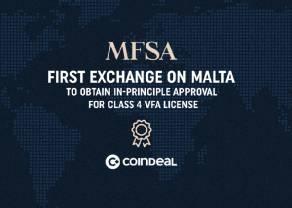 Pierwsza publiczna znana giełda z licencją VFA Class 4! Giełda kryptowalut CoinDeal mocno poszerza swoją działalność