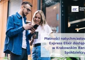 Płatności natychmiastowe Express Elixir dostępne w Krakowskim Banku Spółdzielczym