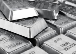 Podwyższona zmienność na wykresie cen srebra. Notowania ropy naftowej lekko odbijają