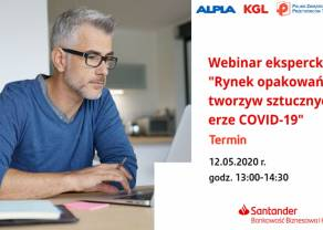 Rynek opakowań z tworzyw sztucznych w erze COVID-19. Santander Bank Polska zaprasza na webinar dla przedsiębiorców