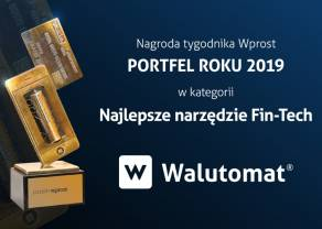 Walutomat z nagrodą Portfela Wprost dla najlepszego FinTechu