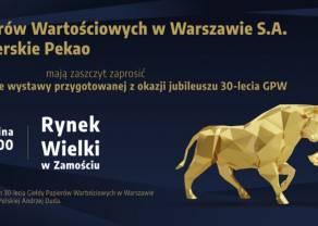 Zaproszenie na uroczystość odsłonięcia wystawy z okazji jubileuszu 30-lecia GPW