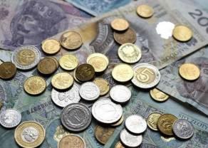 Złoty słabnie przed świętem w USA. Funt już powyżej 5,04 PLN. Dolar USD przekroczył 3,91 zł. Bezrobocie w Polsce spada
