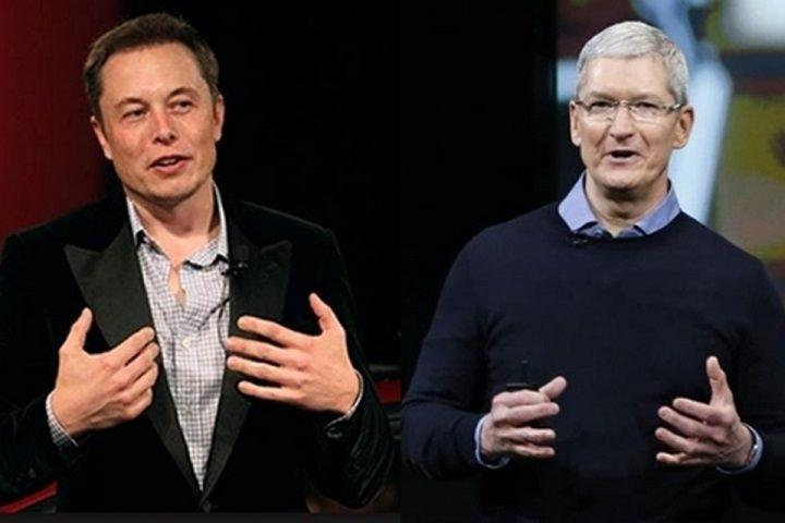 Elon Musk Tim Cook Apple Tesla zarobki prezesów