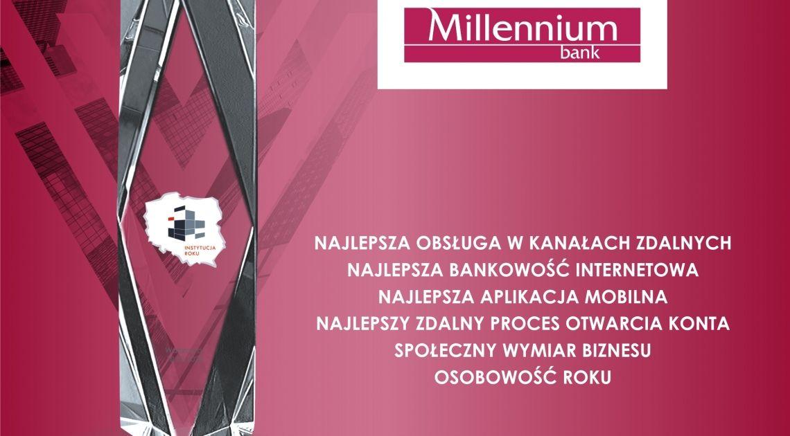 Bank Millennium wielokrotnym zwycięzcą Instytucji Roku 2020