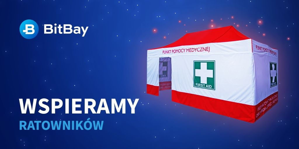 Ponad 70 tysięcy złotych przeznaczone przez BitBay ze zbiórki na zakup namiotu dla ratowników medycznych