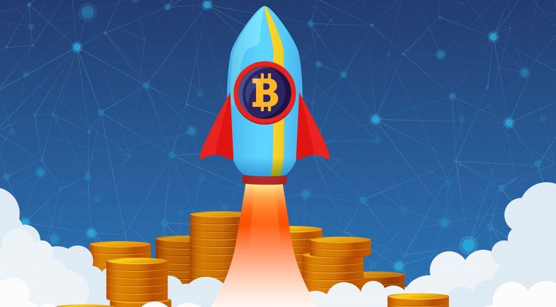 Bitcoin to the Moon- kurs bitcoina wbija się w szeroką strefę oporową. Będzie radość czy lament?