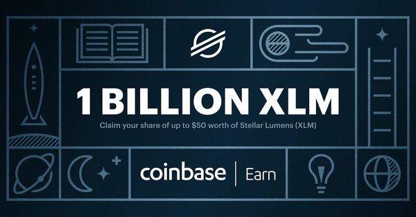 Giełda Coinbase zapłaci do 50 dolarów w XLM za ukończeniu kursu o platformie Stellar