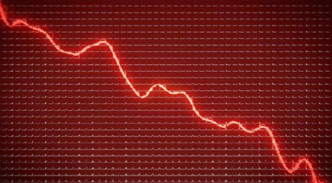 GPW tonie w czerwieni - WIG20 najniżej od ponad dekady i od ostatniego kryzysu finansowego