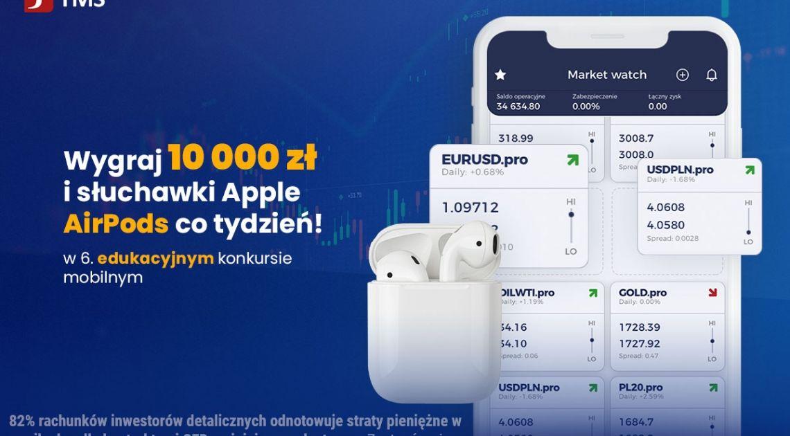Inwestuj wirtualne pieniądze w aplikacji, wygrywaj realne nagrody! Rusza VI edycja edukacyjnego konkursu inwestycyjnego TMS Brokers S.A.