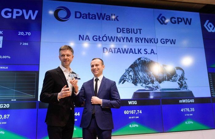 Notowania giełdowe DataWalk z ponad 13% przeceną