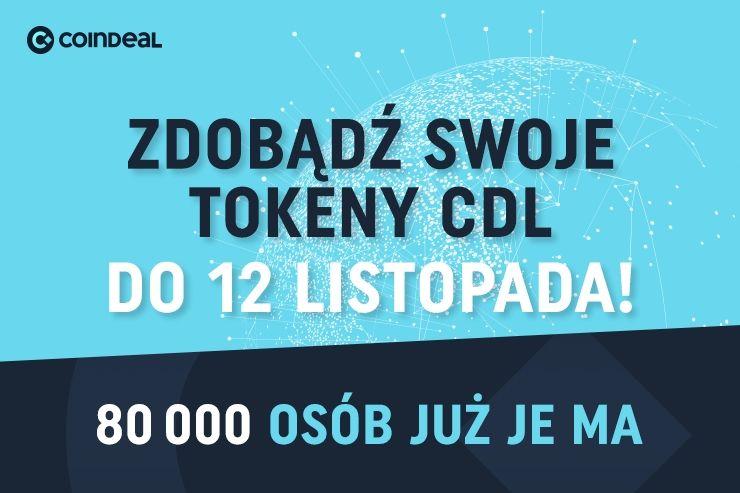 Ponad 80.000 ludzi odebrało CoinDeal Tokeny jeszcze przed premierą rynku!