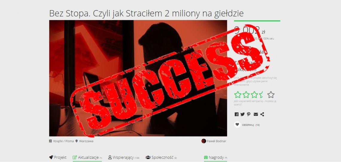 Sukces kampanii crowdfundingowej. Kolejny projekt w kolejce.