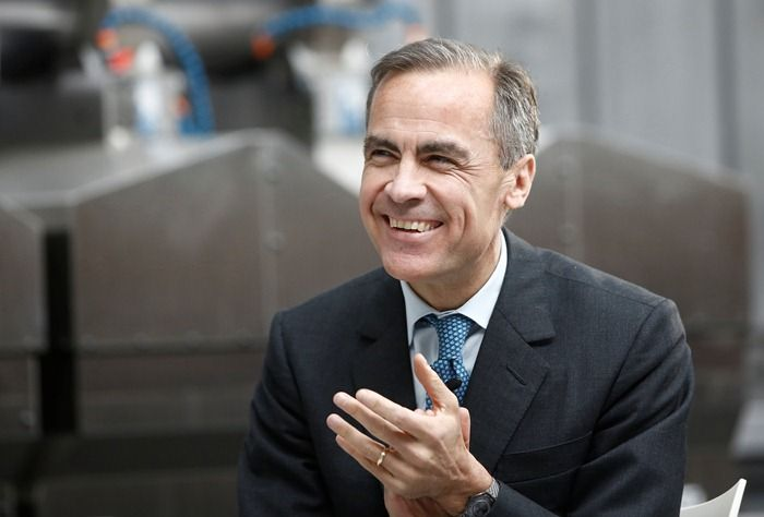 Mark Carney bank anglii Mario Draghi
