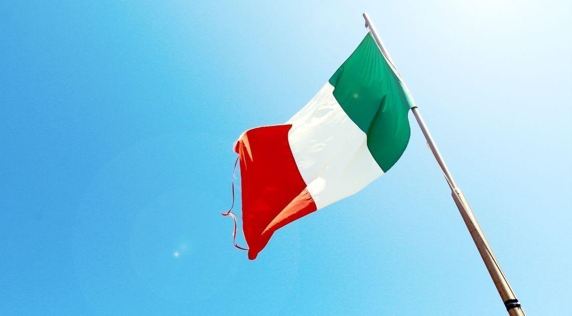 włochy flaga kraj rynek